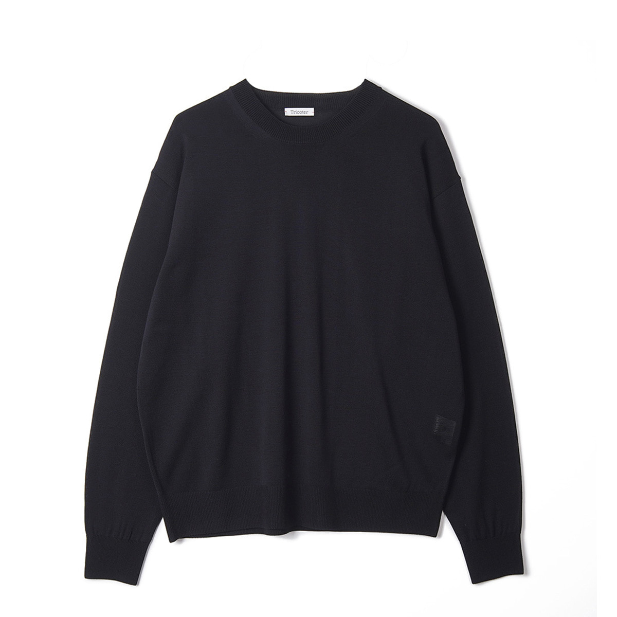 [TRICOTER] SUMMER YARN CREW NECK PULLOVER 'BLACK'