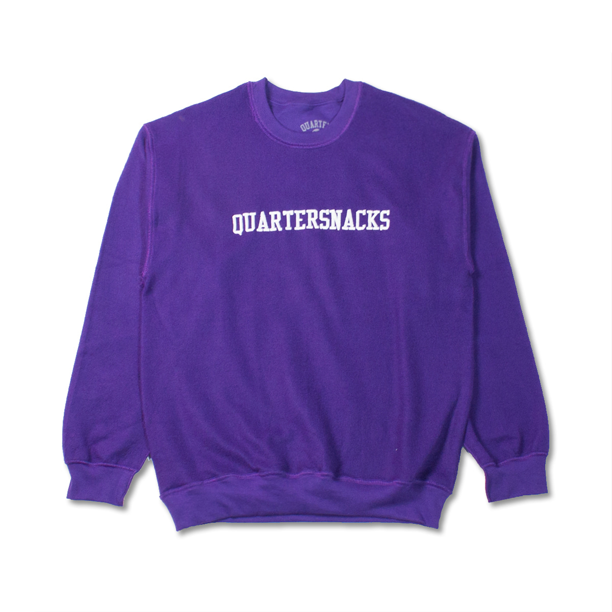 [QUARTERSNACKS] INSIDE OUT EMBROIDERED CREW 'PURPLE'