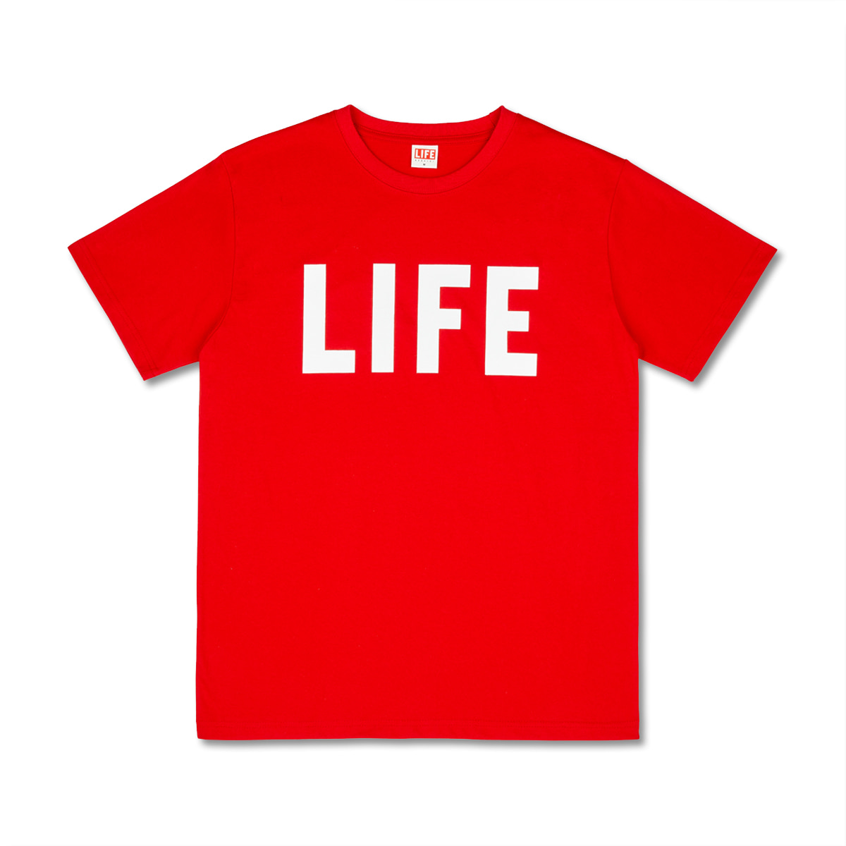 [LIFE ACHIVE] LIFE LETTER LOGO T-SHIRT 'RED'