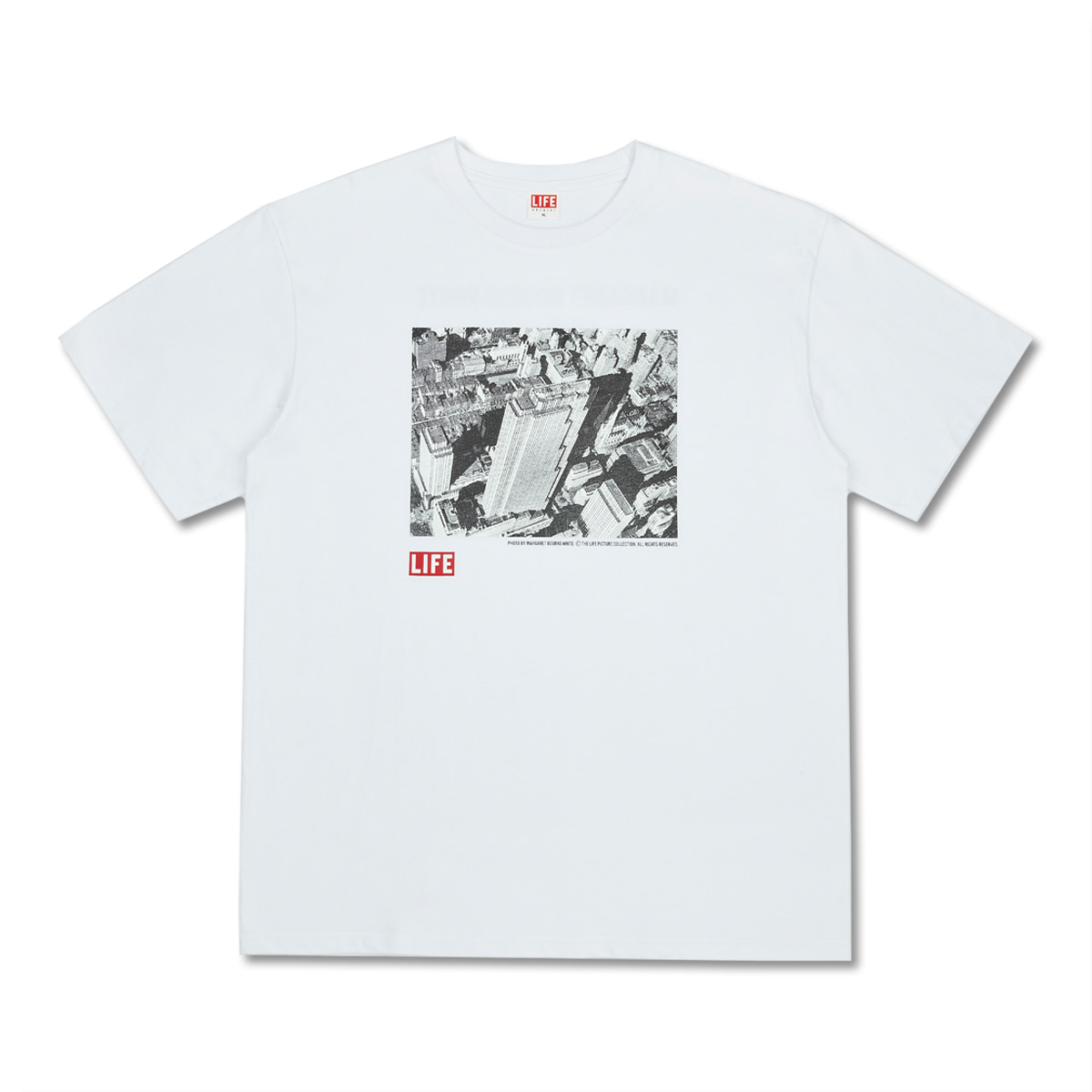 [LIFE ACHIVE] PHOTOGRAPHERS M.B.WHITE BLDG T-SHIRT 'WHITE'