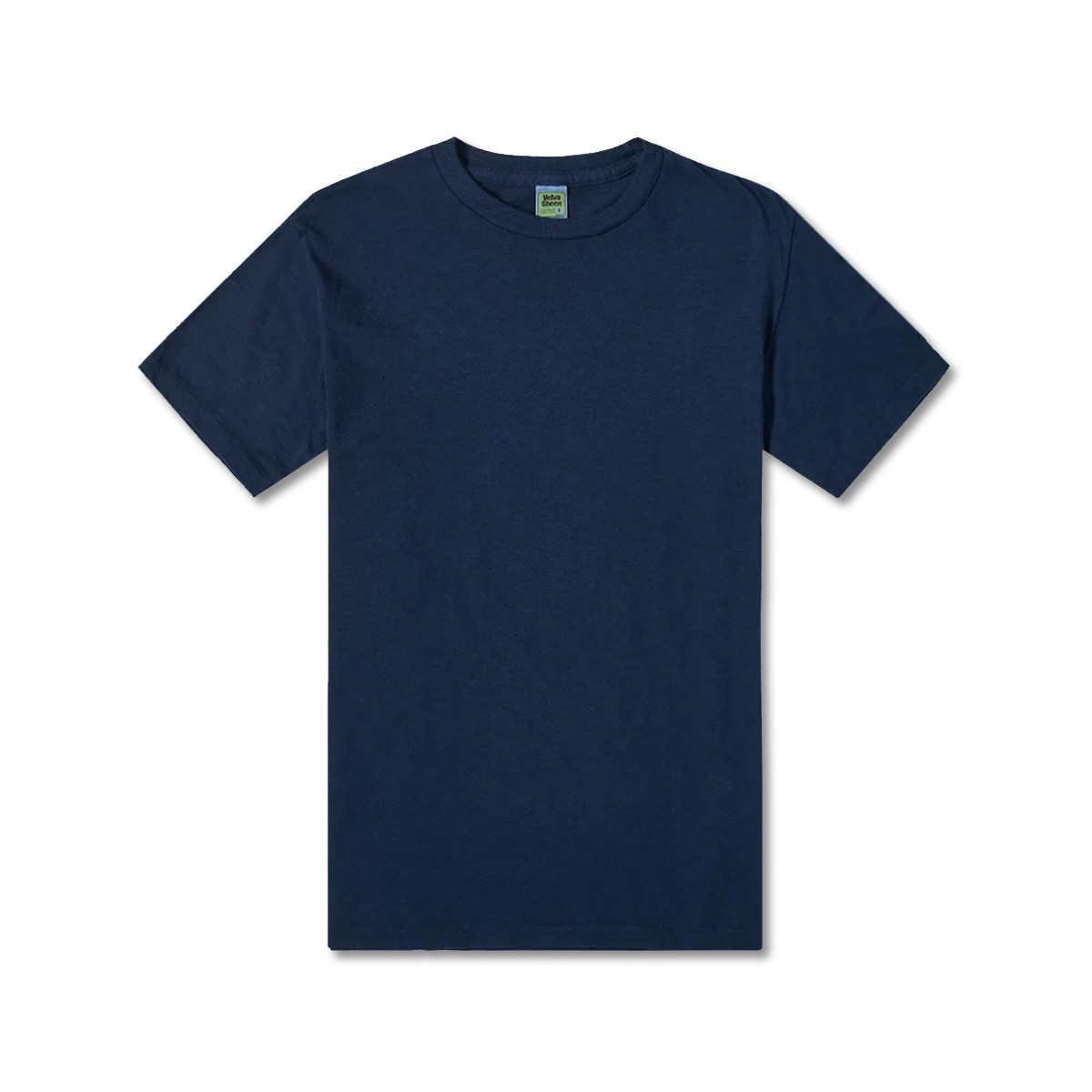 [VELVA SHEEN] ROLLED SS REGULAR TEE 'NAVY'