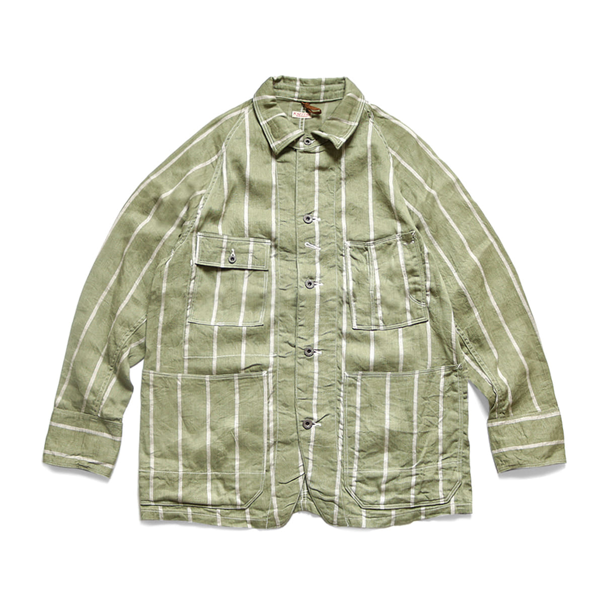 [KAPITAL] PHILLIES STRIPE CACTUS COVERALL 'KHAKI'