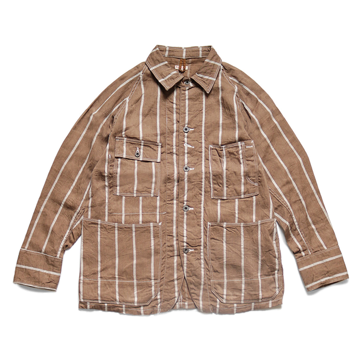 [KAPITAL] PHILLIES STRIPE CACTUS COVERALL 'BROWN'