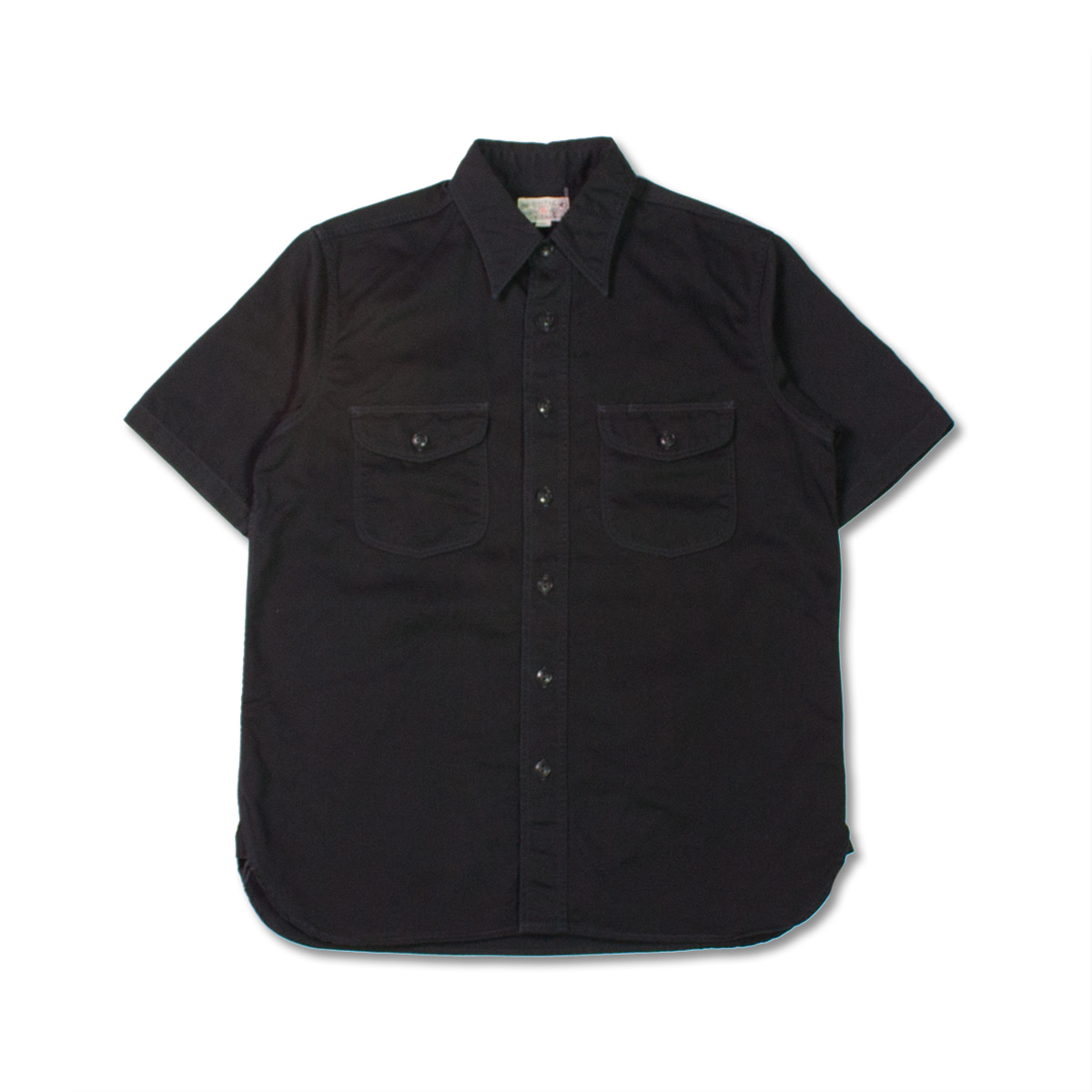 [BUZZ RICKSON'S] BR38401 HERRINGBONE S/S WORK SHIRT 'BLACK'