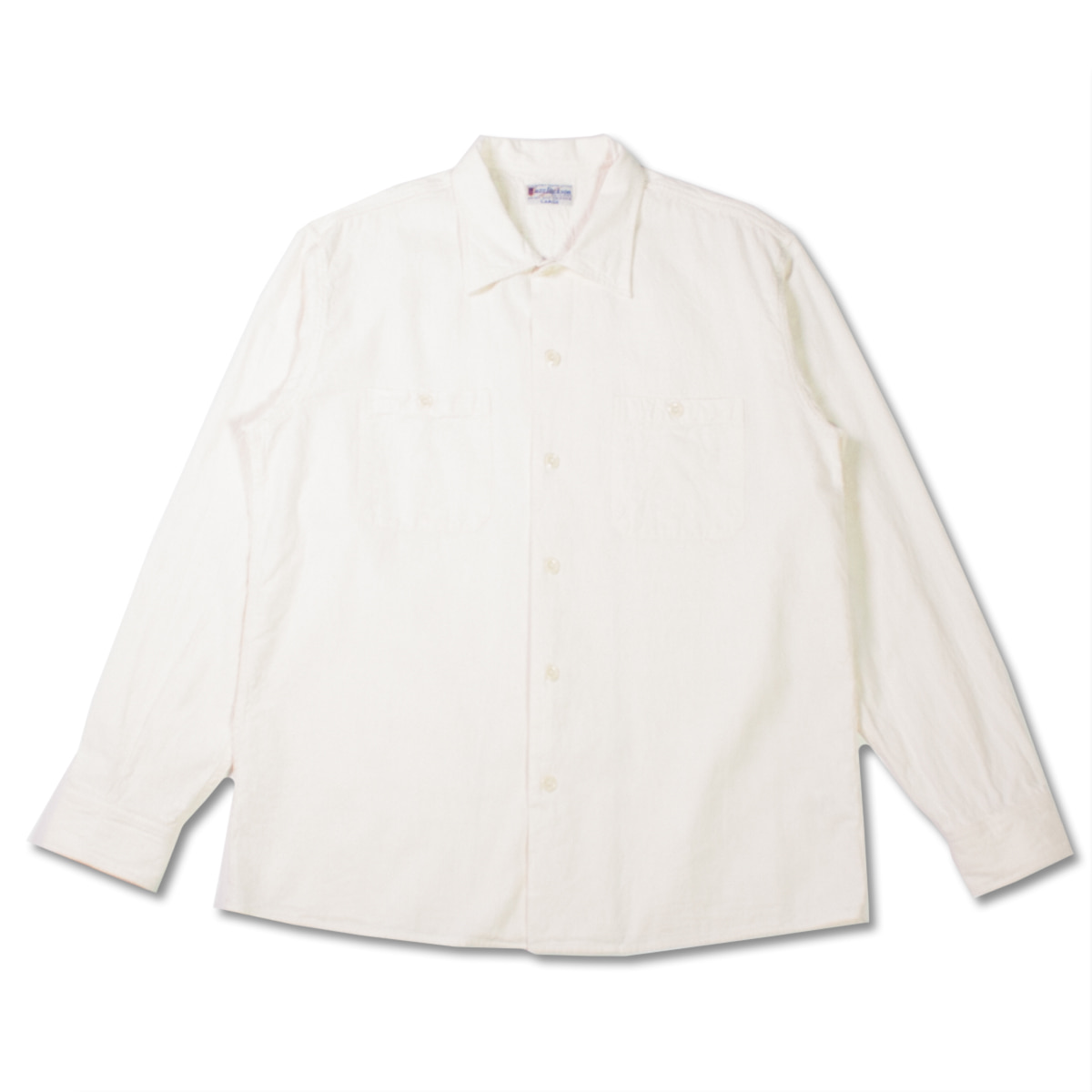 [BUZZ RICKSON'S] BR27752 CHAMBRAY OPEN SHIRT 'WHITE'