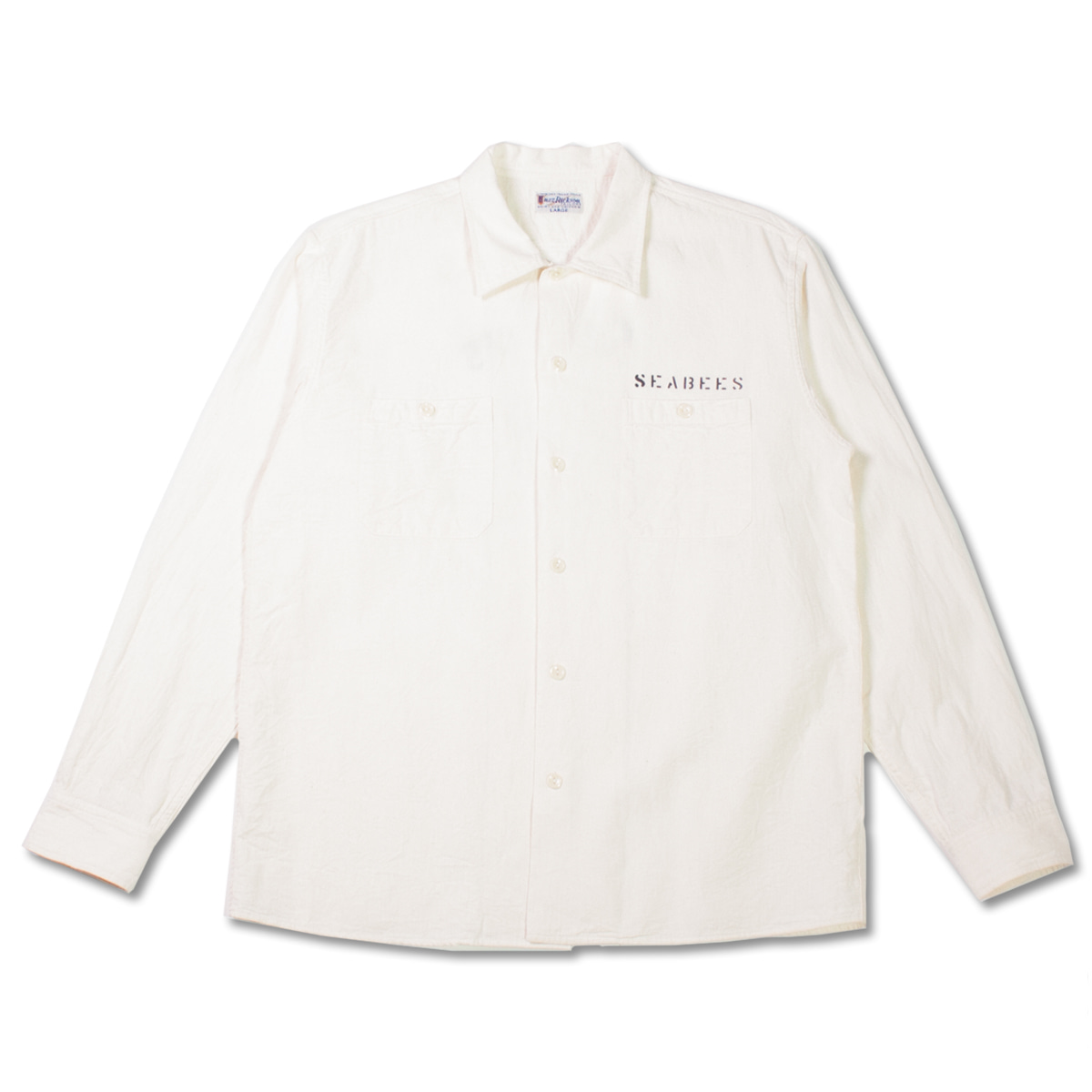 [BUZZ RICKSON'S] BR28345 CHAMBRAY WORK SHIRT STENCIL 'WHITE'