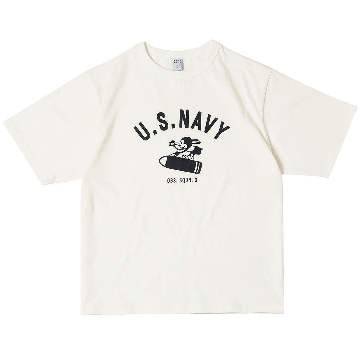 [ELSEWEAR] USN OSW RABBIT OVERSIZED S/S TEE 'WHITE'