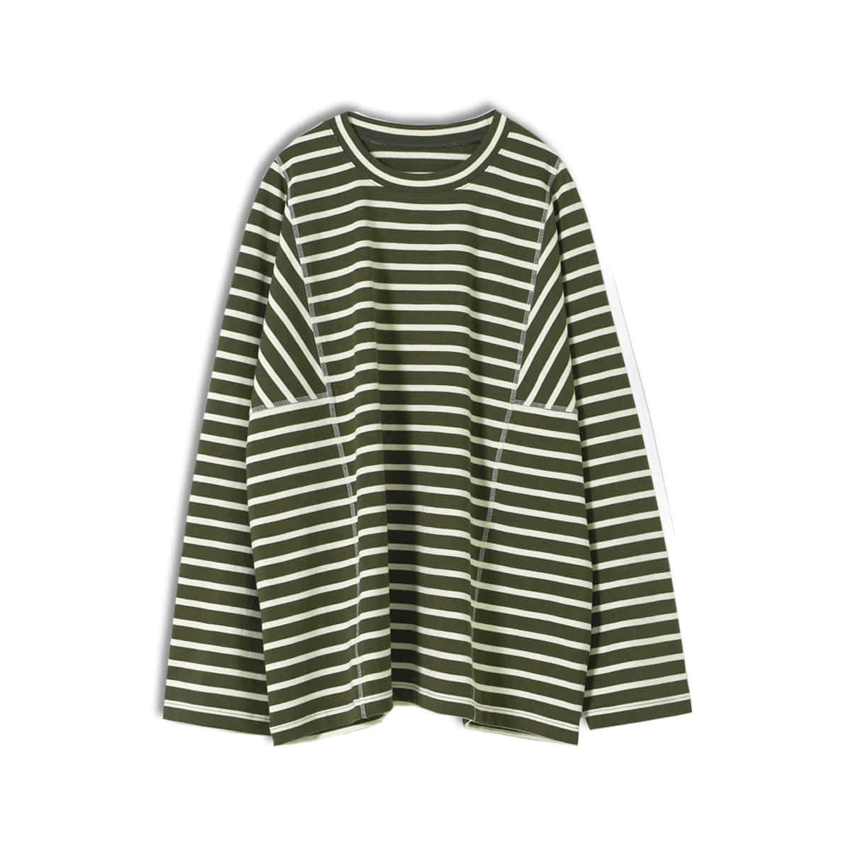 [YOUTH] STRUCTURED T-SHIRT 'OLIVE/IVORY'