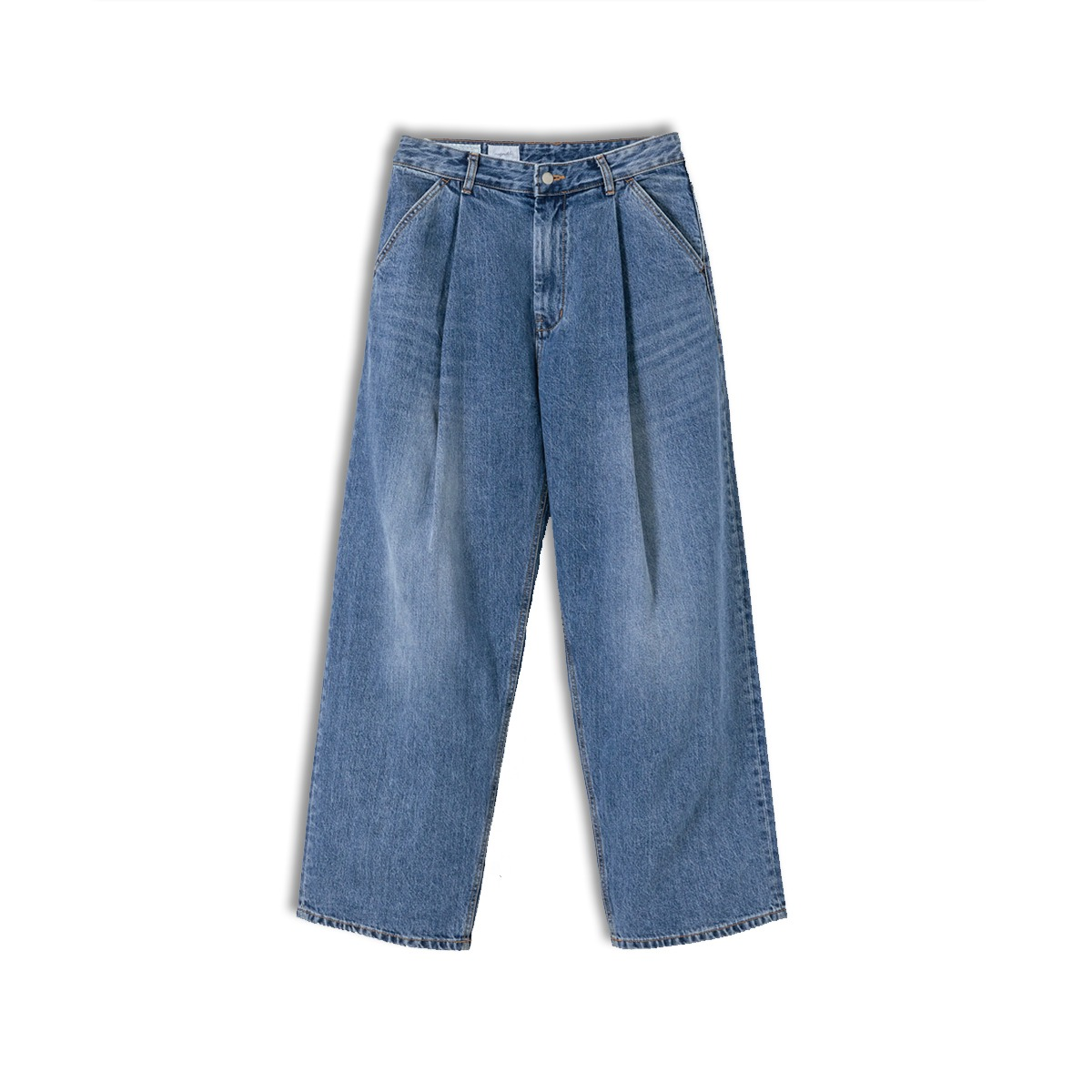 [YOUTH] STRUCTURED WIDE DENIM PANTS 'MEDIUM BLUE'