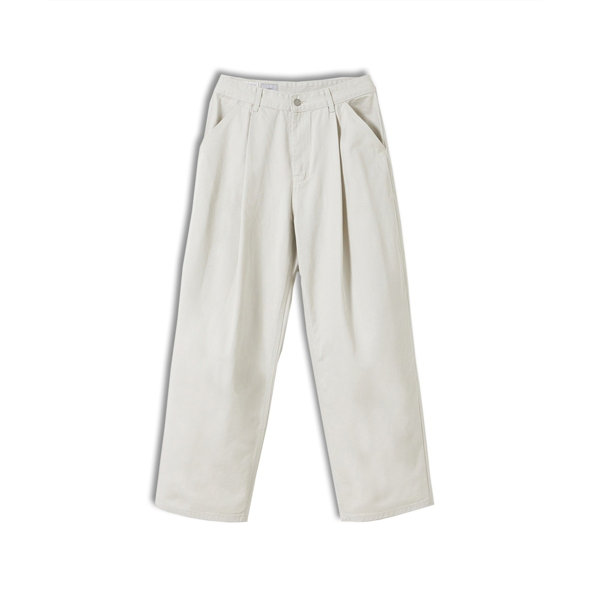 [YOUTH] STRUCTURED WIDE DENIM PANTS 'LIGHT GREY'