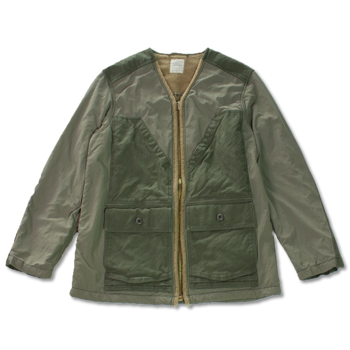 [SAGE DE CRET] V NECK FIELD JACKET 'KHAKI'