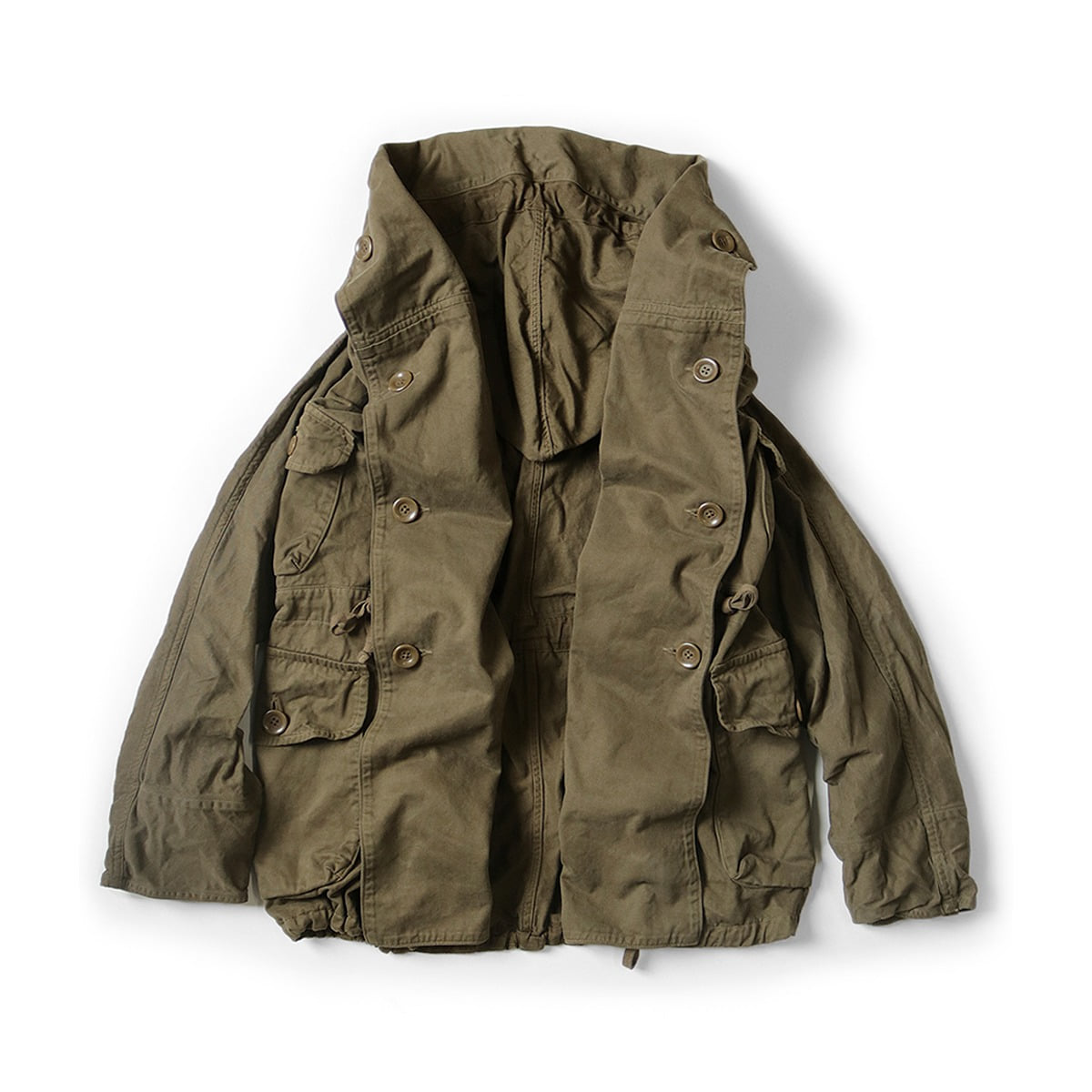 [KAPITAL] KATSURAGI COTTON RING COAT 'KHAKI'