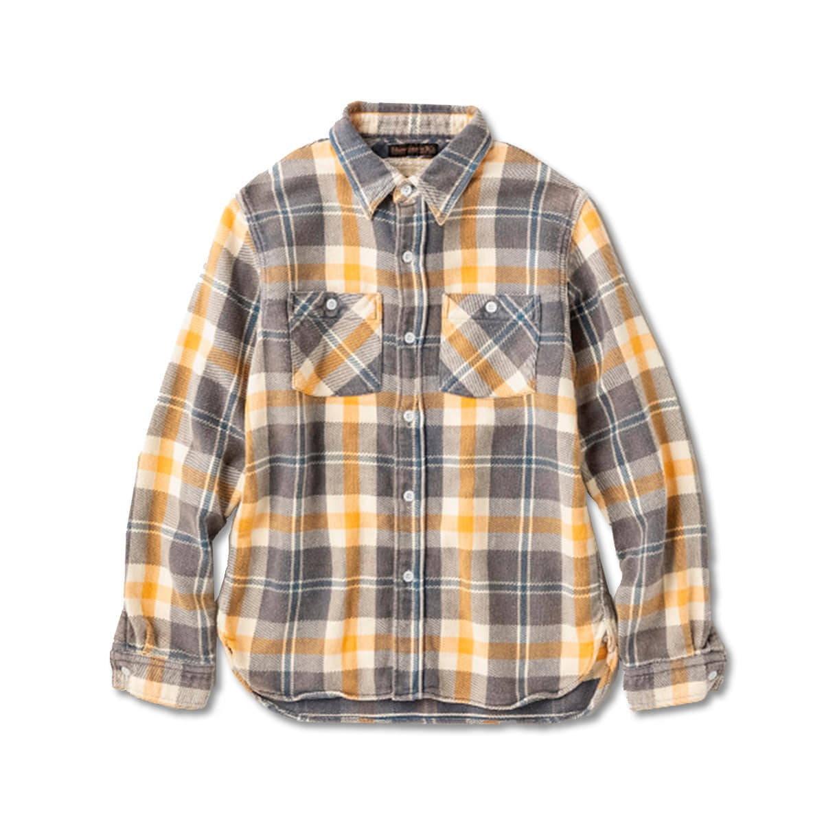 "[FULLCOUNT] 4021-1E ORIGINAL CHECK FLANNEL E-FLOW WASH ""SOUTHER"" SHIRTS 'BLUE'"