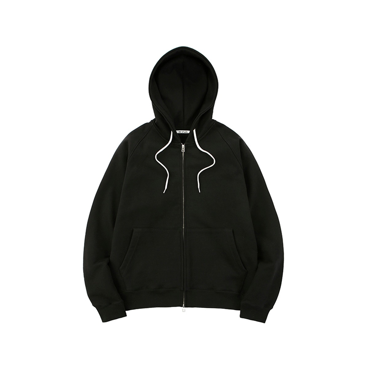 [ART IF ACTS] HEAVY HODDED SWEAT SHIRT(ZIPUP) 'BLACK'