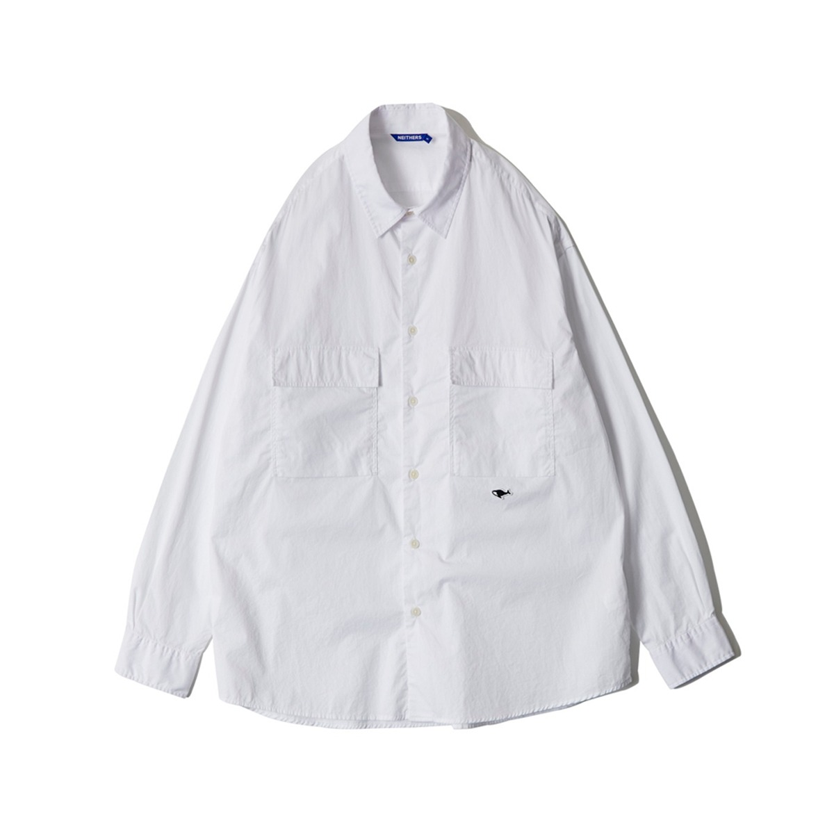 [NEITHERS] D5009-1 S 2-POCKET WIDE SHIRT 'WHITE'
