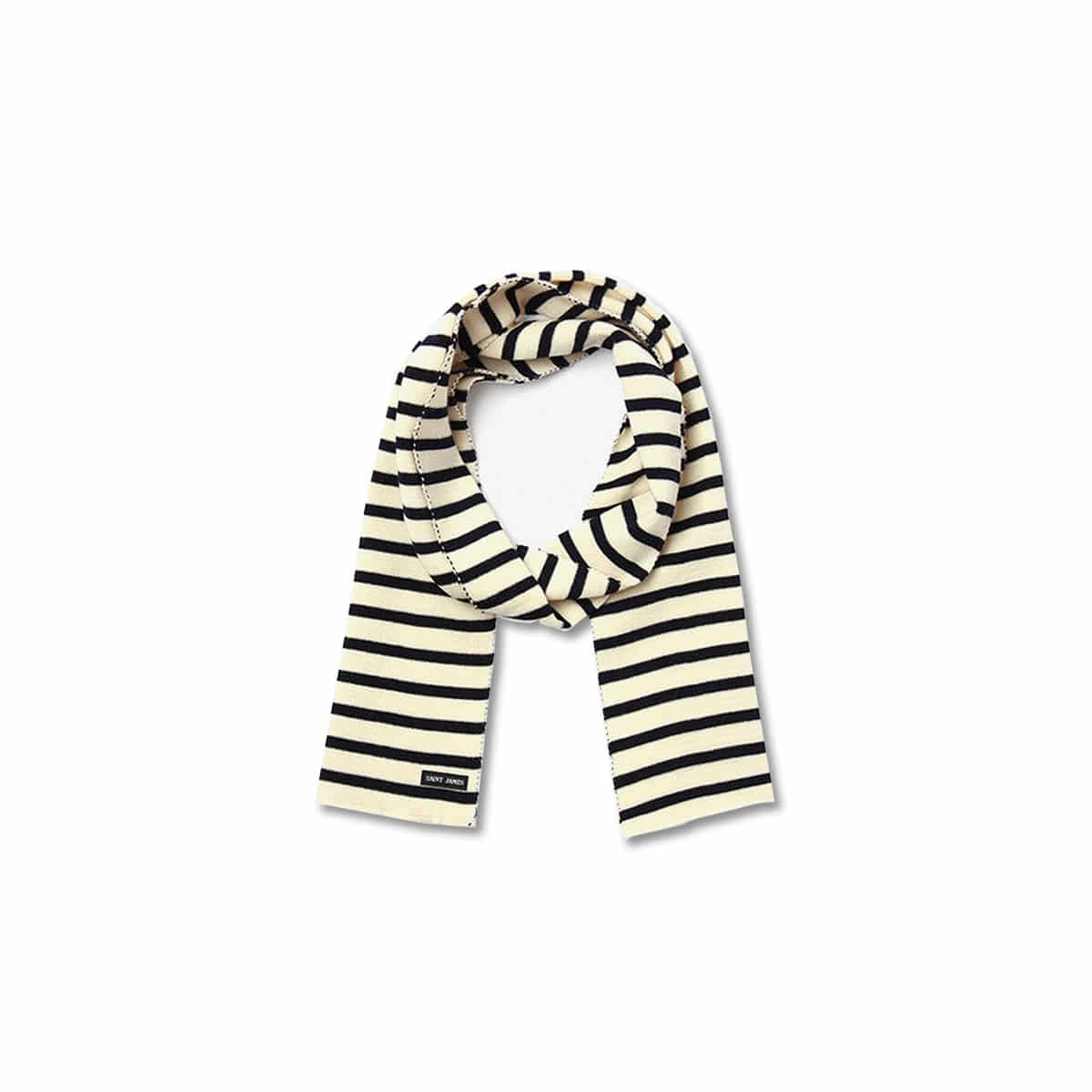[SAINT JAMES] SCARF RAYE 'MARINE/ECRU'