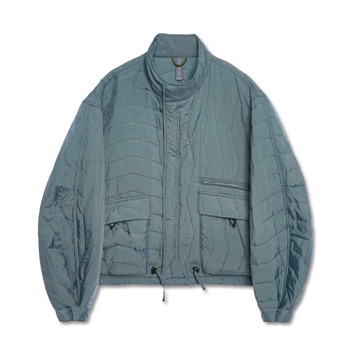 [UNAFFECTED] MULTI QUILTED BLOUSON 'AQUA SMOKE'