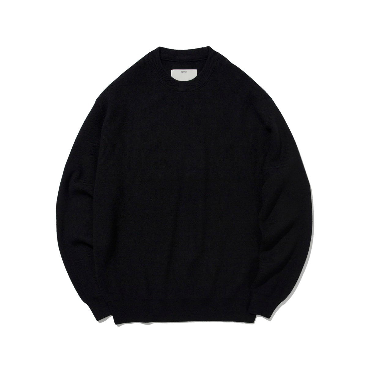 [POTTERY] COMFORT CREWNECK KNIT 'BLACK'
