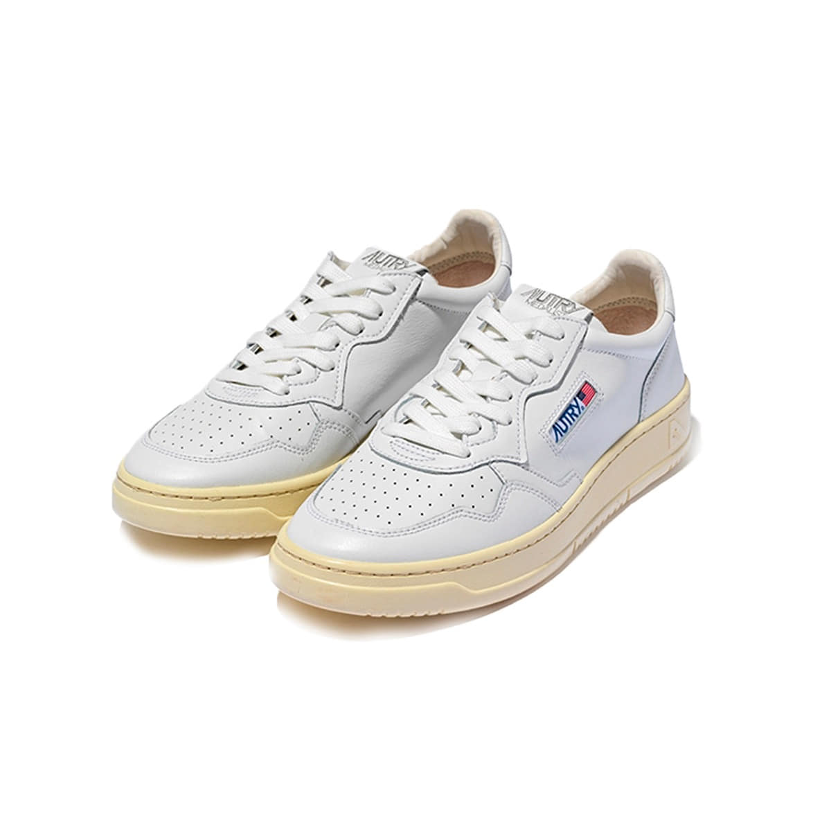 [AUTRY] MEDALIST SNEAKERS GOAT/GOAT 'WHITE'