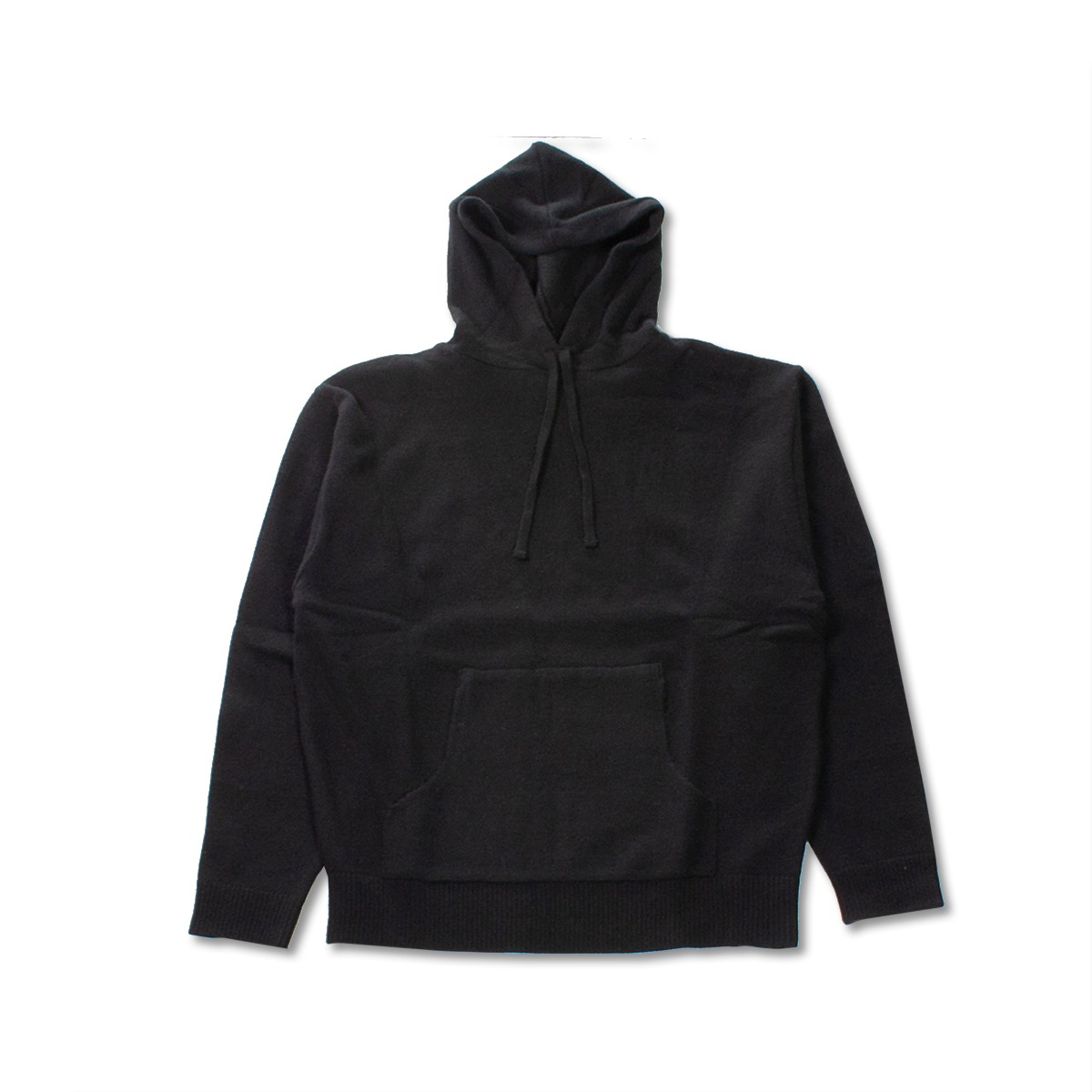 [8DIVISION] OVERSIZED KNIT HOODIE 'BLACK'