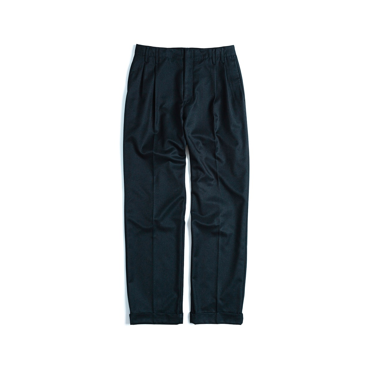 [UNAFFECTED] TWO TUCK WIDE PANTS 'D.NAVY'