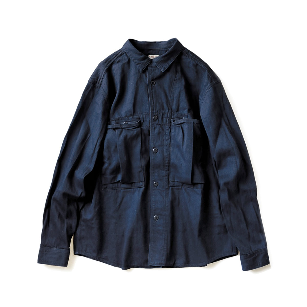 [KAPITAL] 8OZ IDGxIDG DENIM ANORAK SHIRT 'INDIGO'
