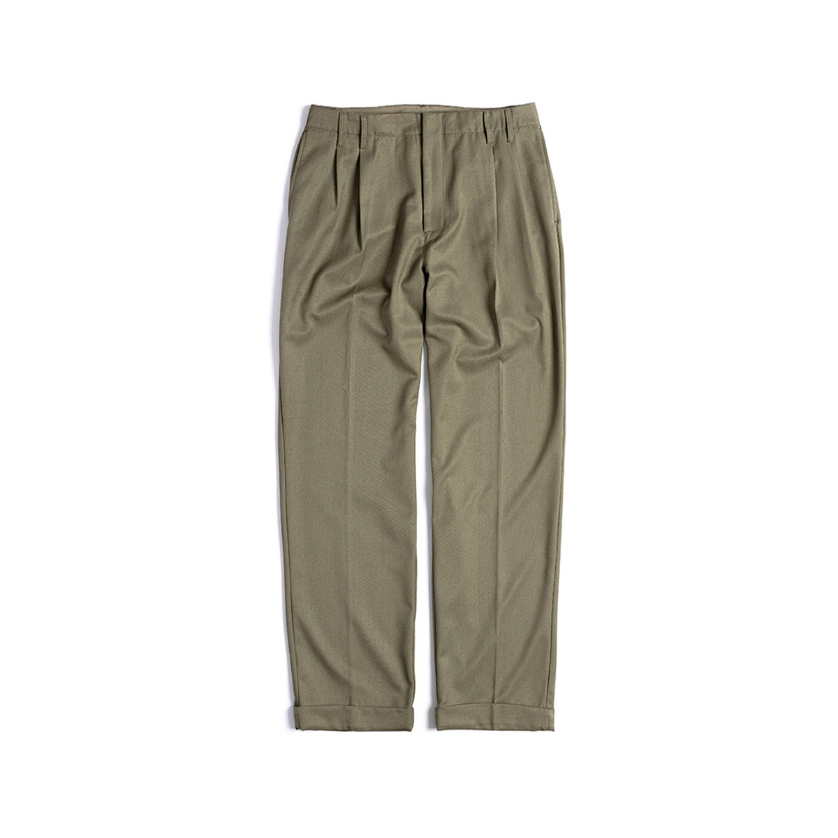 [UNAFFECTED] TWO TUCK WIDE PANTS 'BEIGE'
