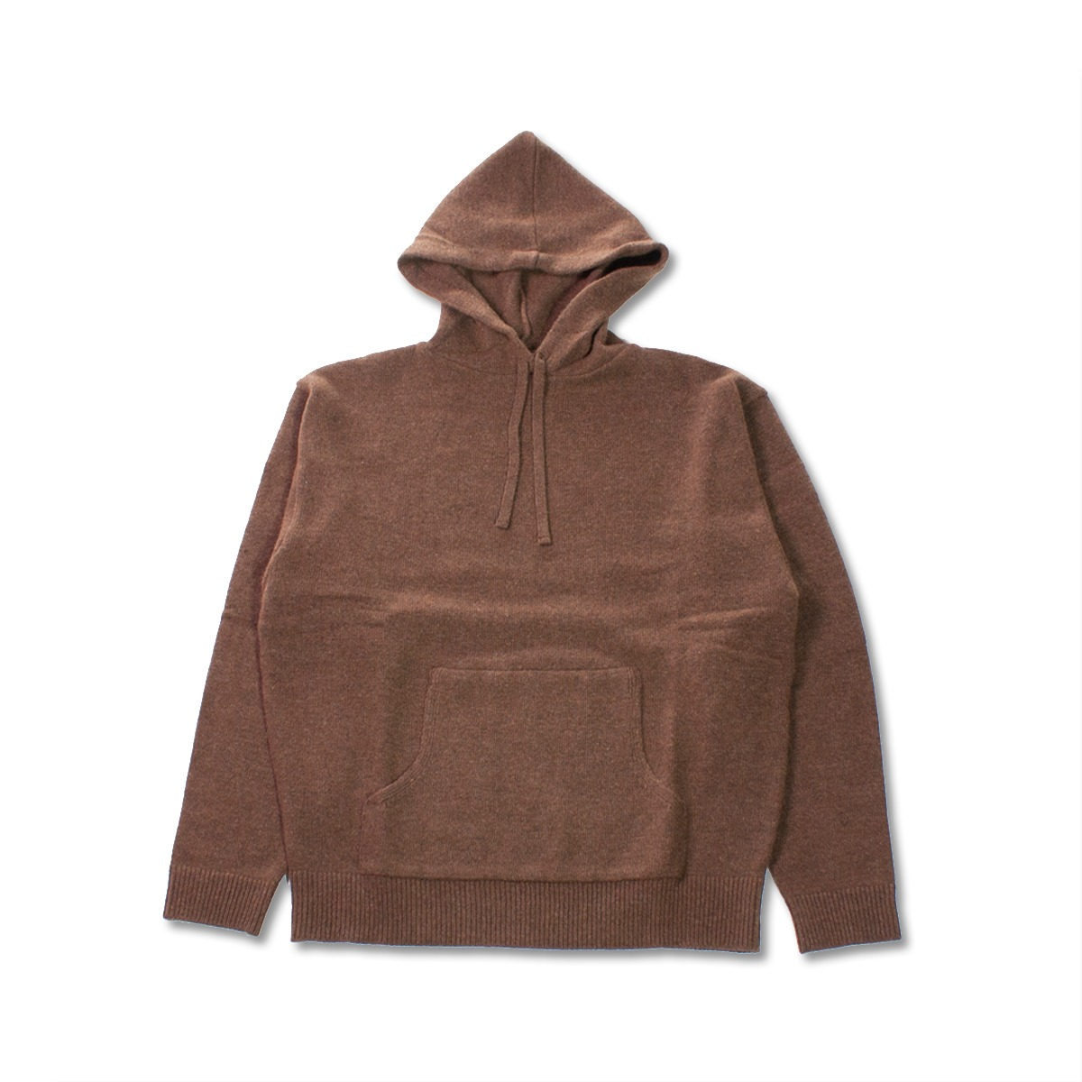 [8DIVISION] OVERSIZED KNIT HOODIE 'BROWN'