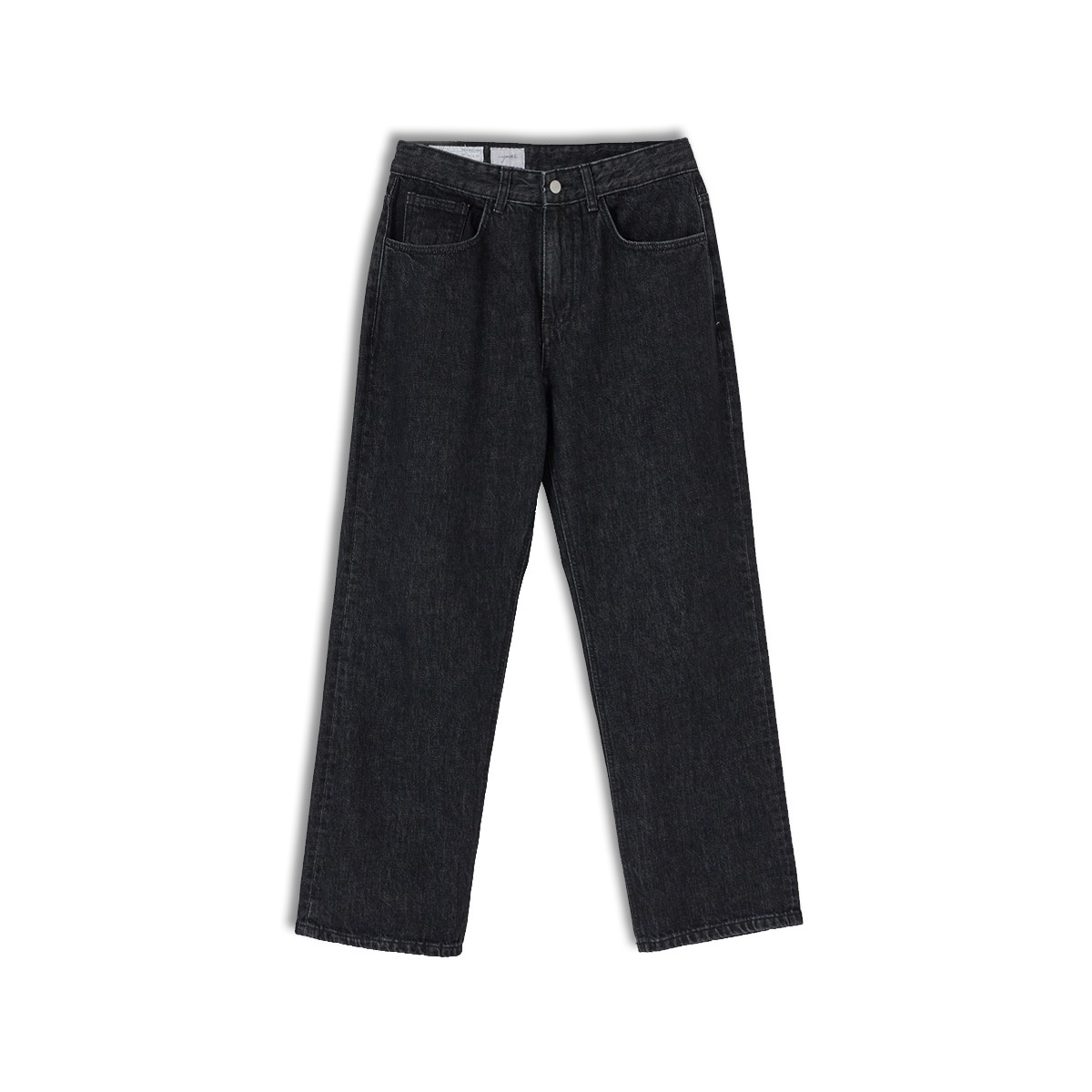 [YOUTH] STRAIGHT DENIM PANTS 'WASHED BLACK'