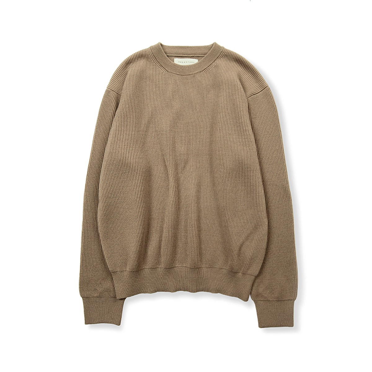 [BROWNYARD] ESSENTIAL SWEATER 'DARK BEIGE'