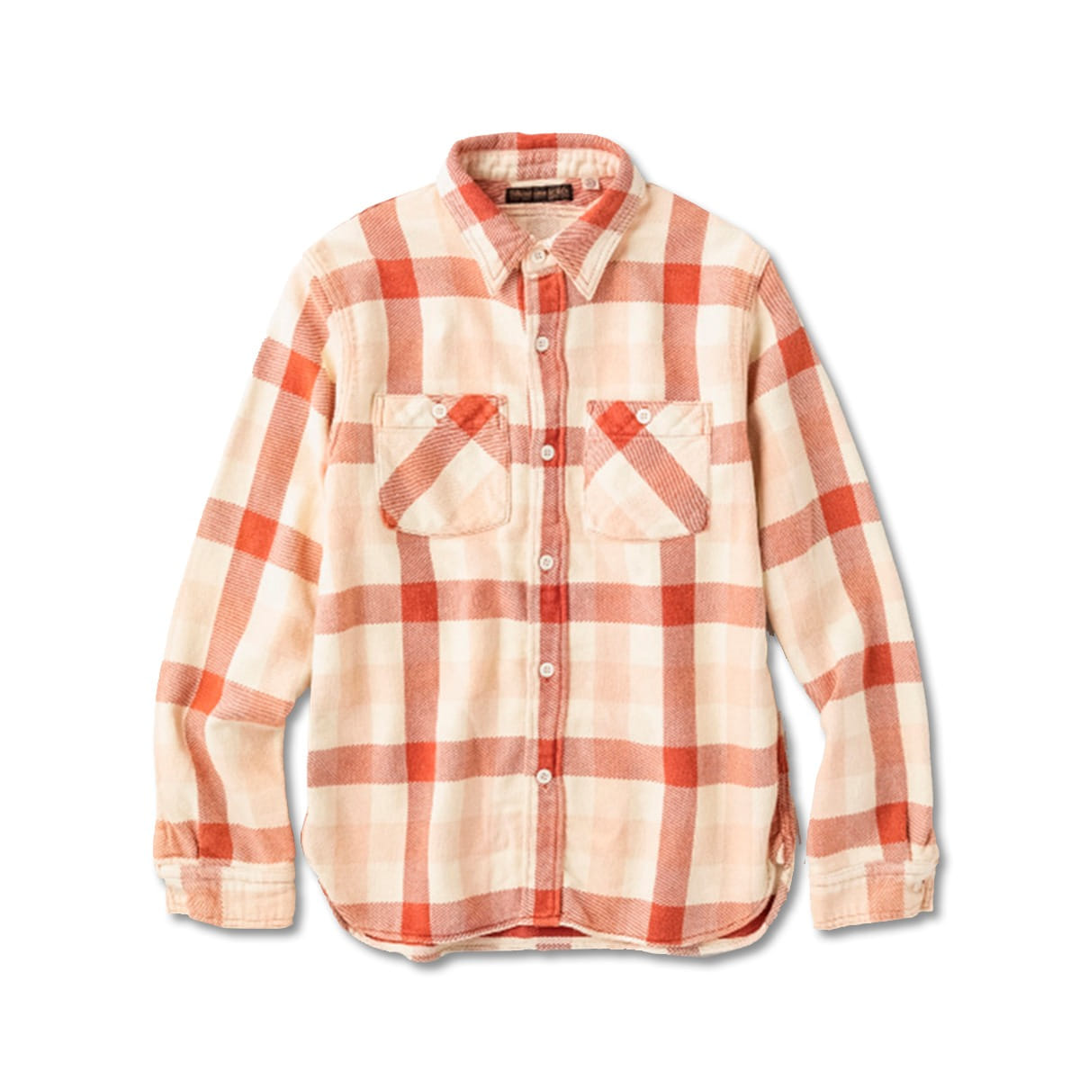 "[FULLCOUNT] 4021-1E ORIGINAL CHECK FLANNEL E-FLOW WASH ""BROWNE"" SHIRTS 'RED'"
