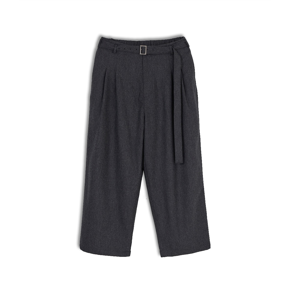 [YOUTH] BELTED LOOSED PANTS 'CHARCOAL GREY'