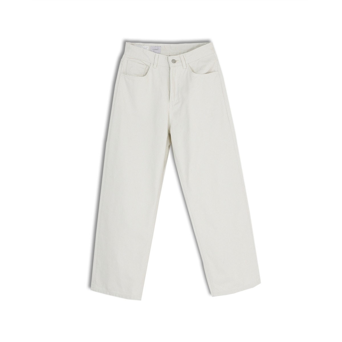 [YOUTH] WIDE DENIM PANTS 'LIGHT GREY'