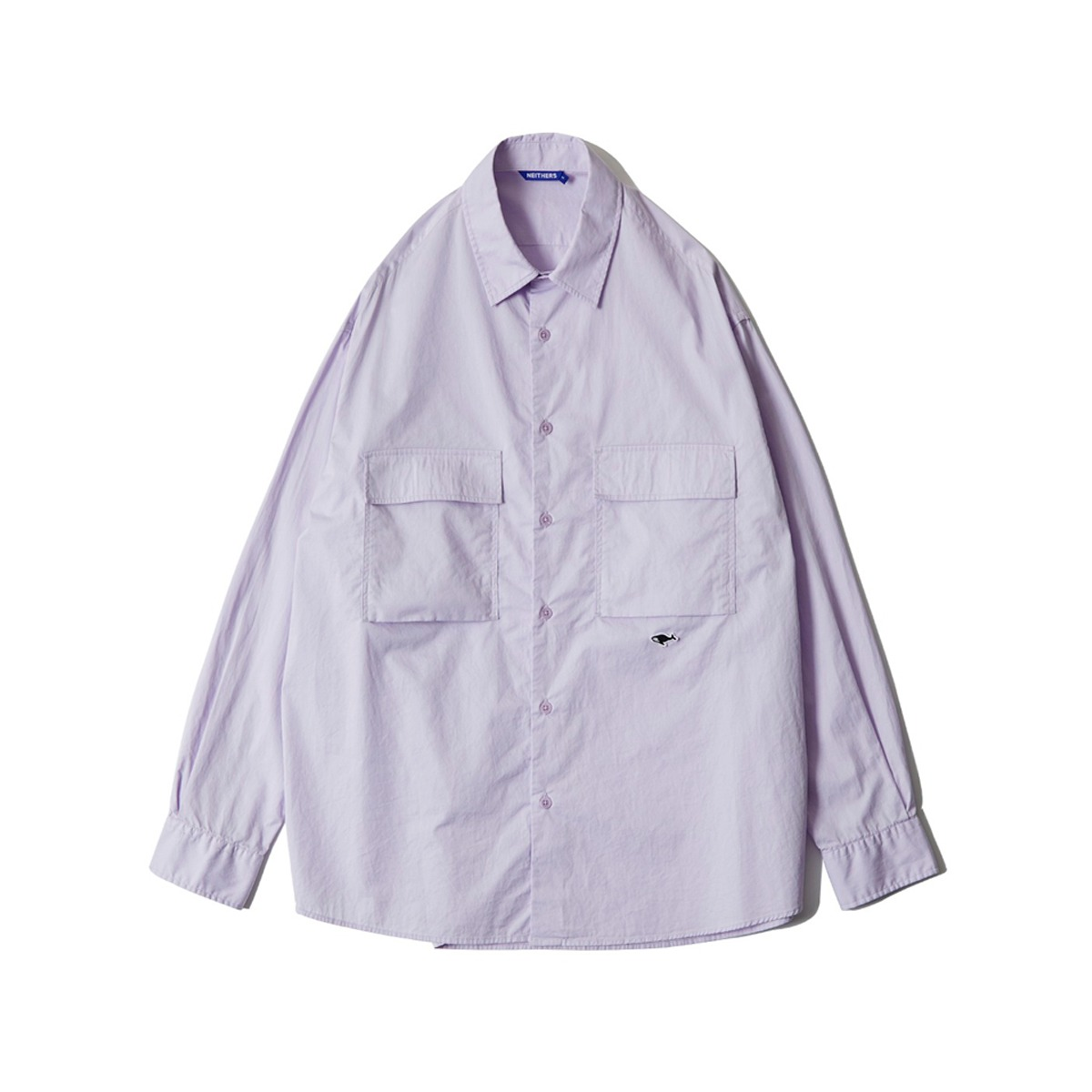 [NEITHERS] D5009-3 S 2-POCKET WIDE SHIRT 'LAVENDER'