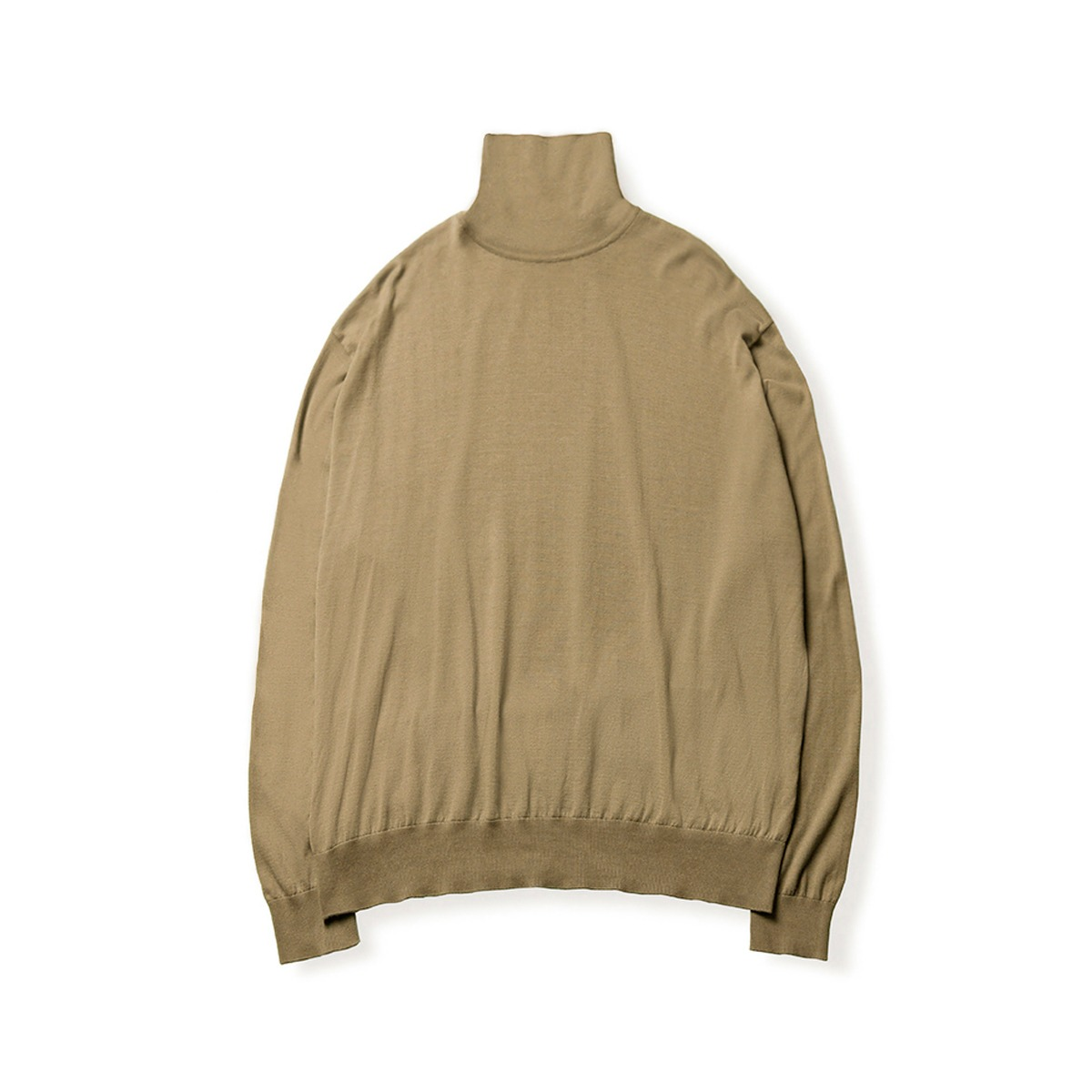 [BROWNYARD] HIGH GAUGE TURTLENECK 'DARK BEIGE'