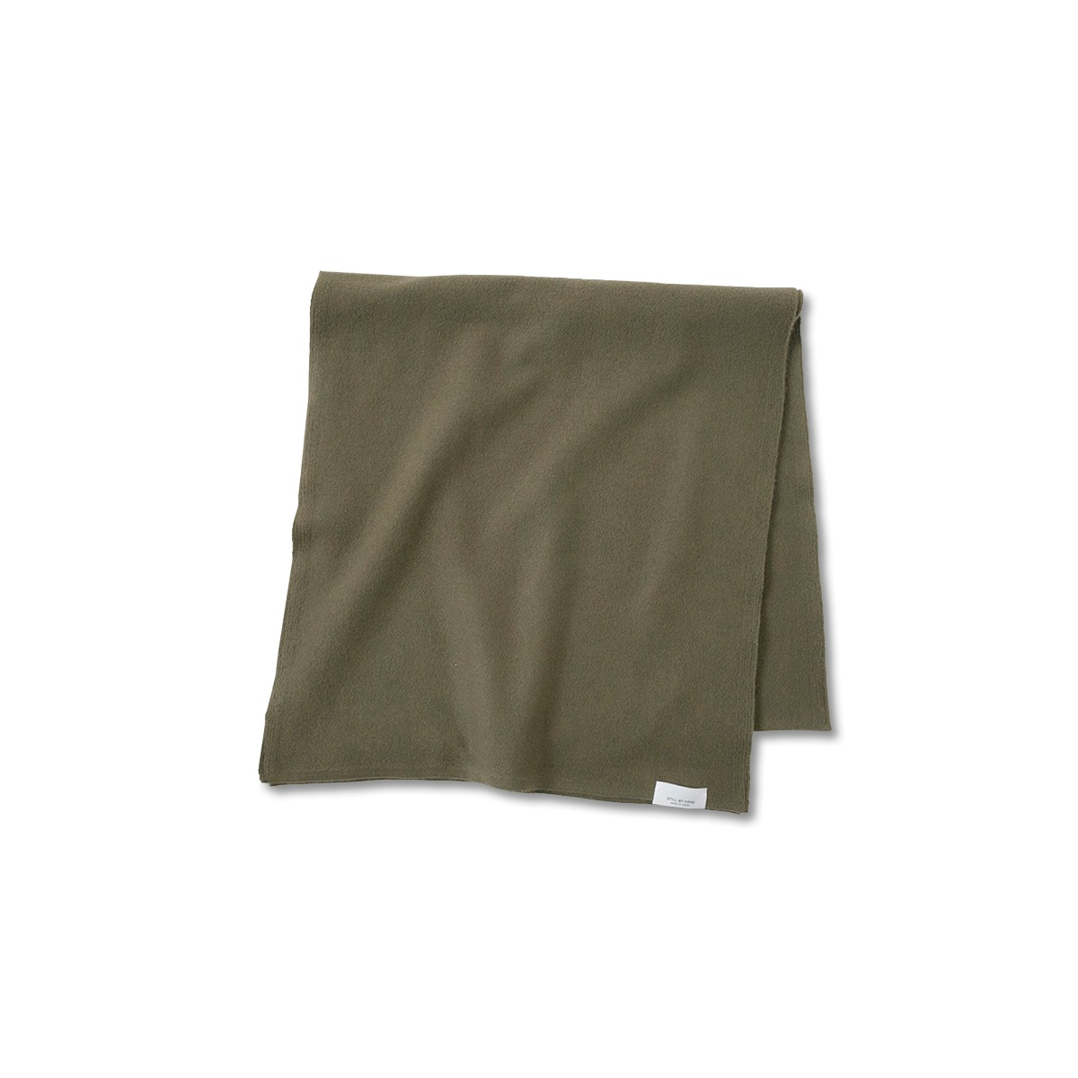 [STILL BY HAND] GD02203OS - WOOL KNIT STOLE 'OLIVE'