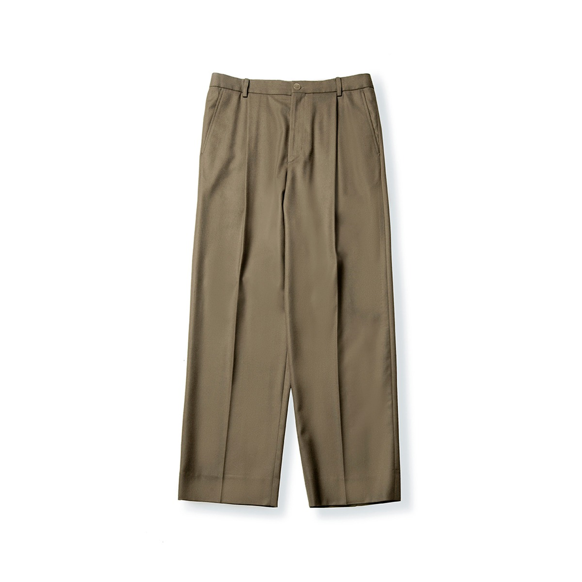 [BROWNYARD] WIDE PANTS 'DARK BEIGE'