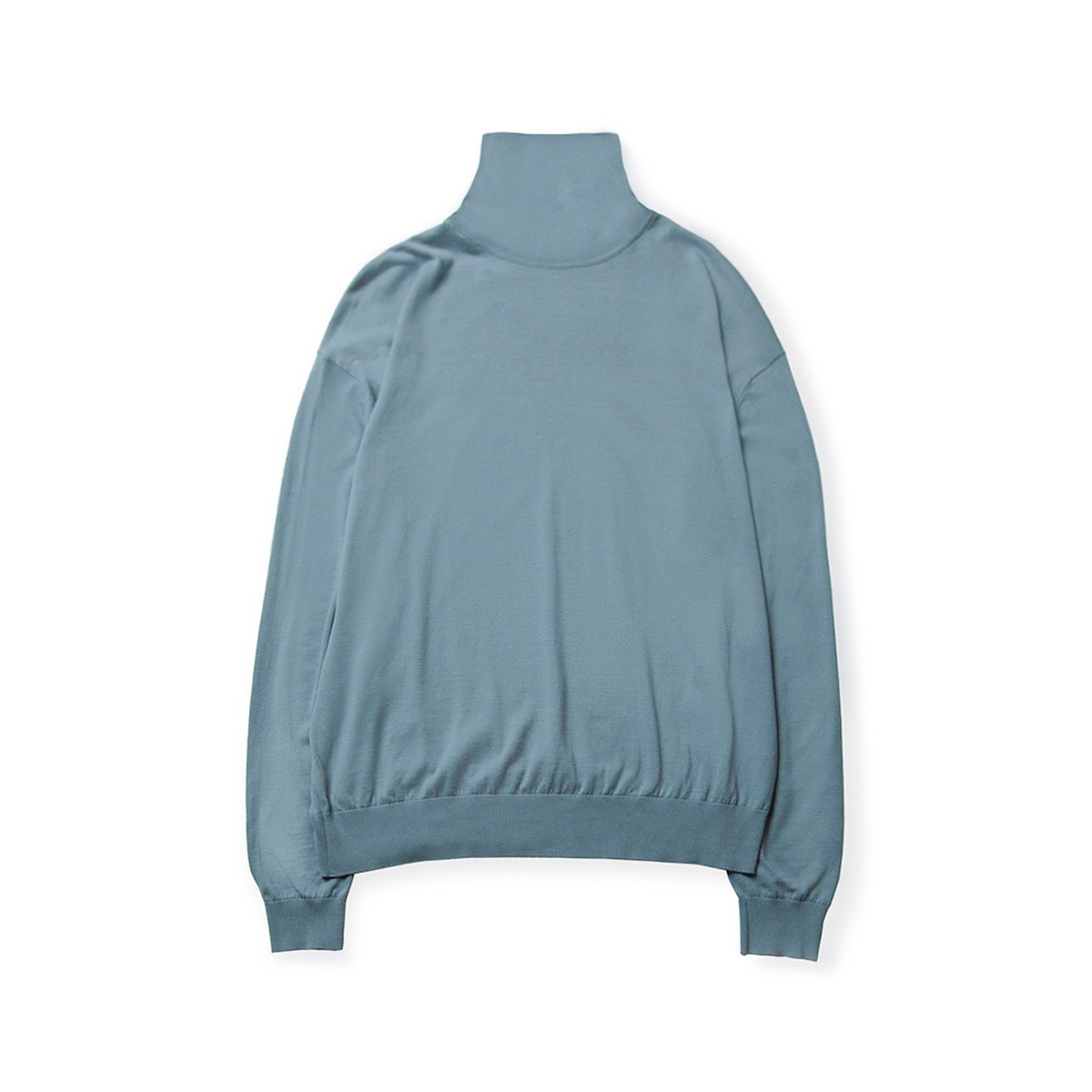 [BROWNYARD] HIGH GAUGE TURTLENECK 'SKY BLUE'