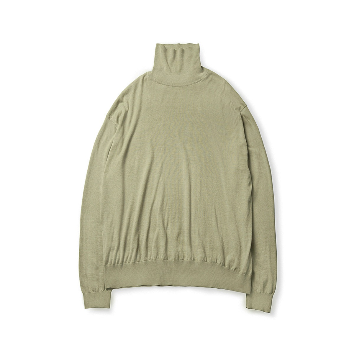 [BROWNYARD] HIGH GAUGE TURTLENECK 'LIGHT OLIVE'