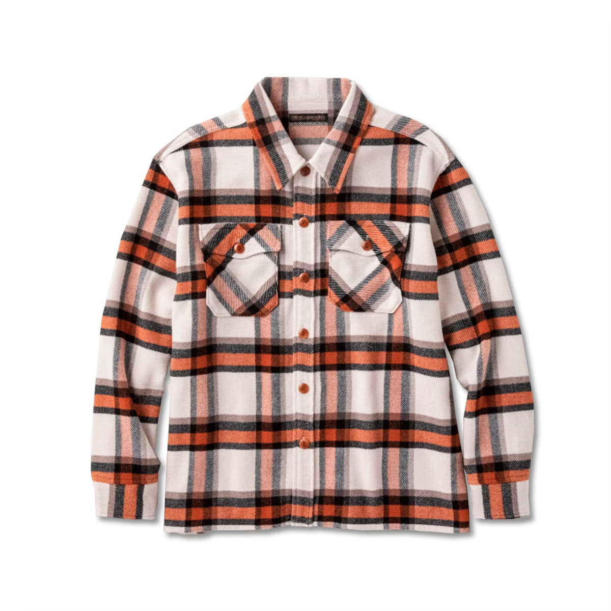 [FULLCOUNT] BIG CHECK CPO SHIRT 'ORANGE'