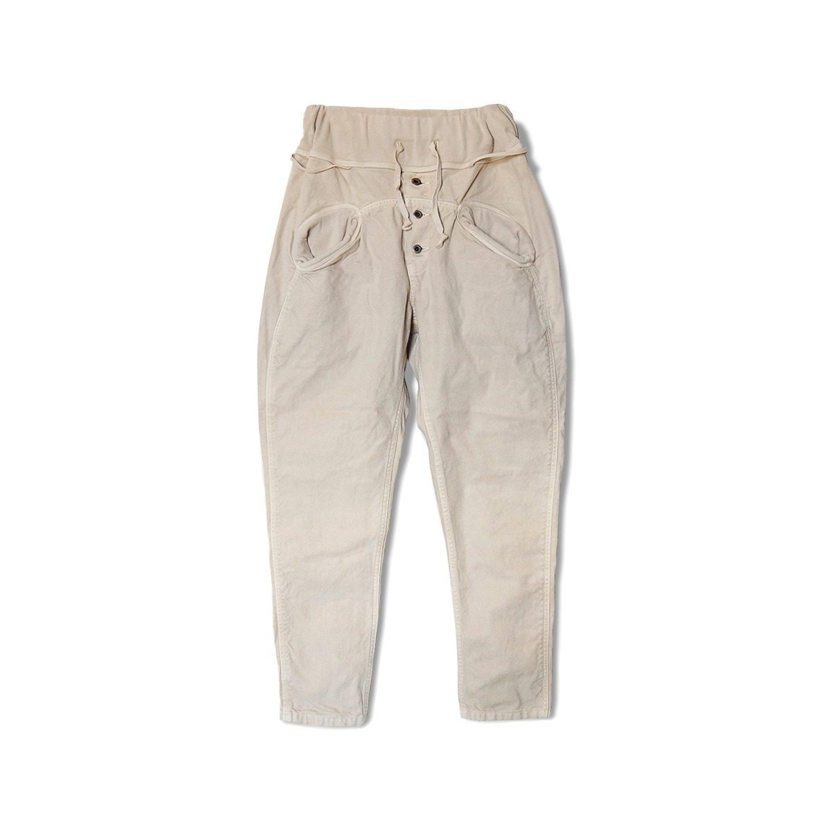 [KAPITAL] CANVAS SAROUEL NOUVELLE PANTS 'BEIGE'
