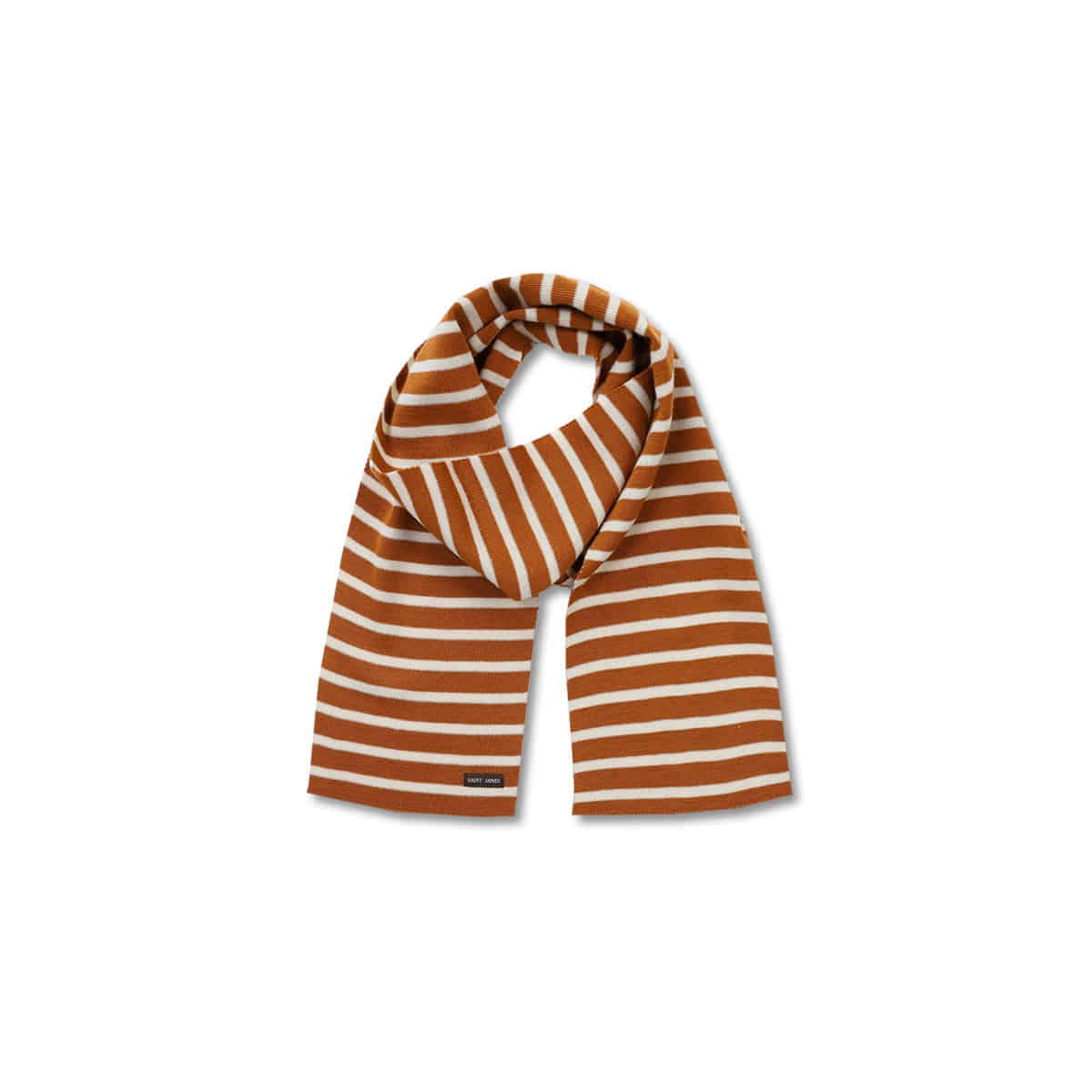 [SAINT JAMES] SCARF RAYE 'CAMEL/ECRU'