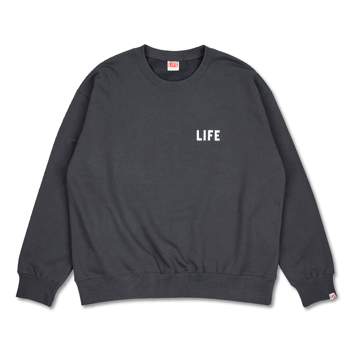 [LIFE ACHIVE] JOURNAL SWEAT SHIRT 'DARK GREY'