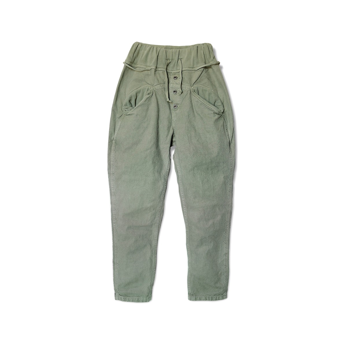 [KAPITAL] CANVAS SAROUEL NOUVELLE PANTS 'KHAKI'