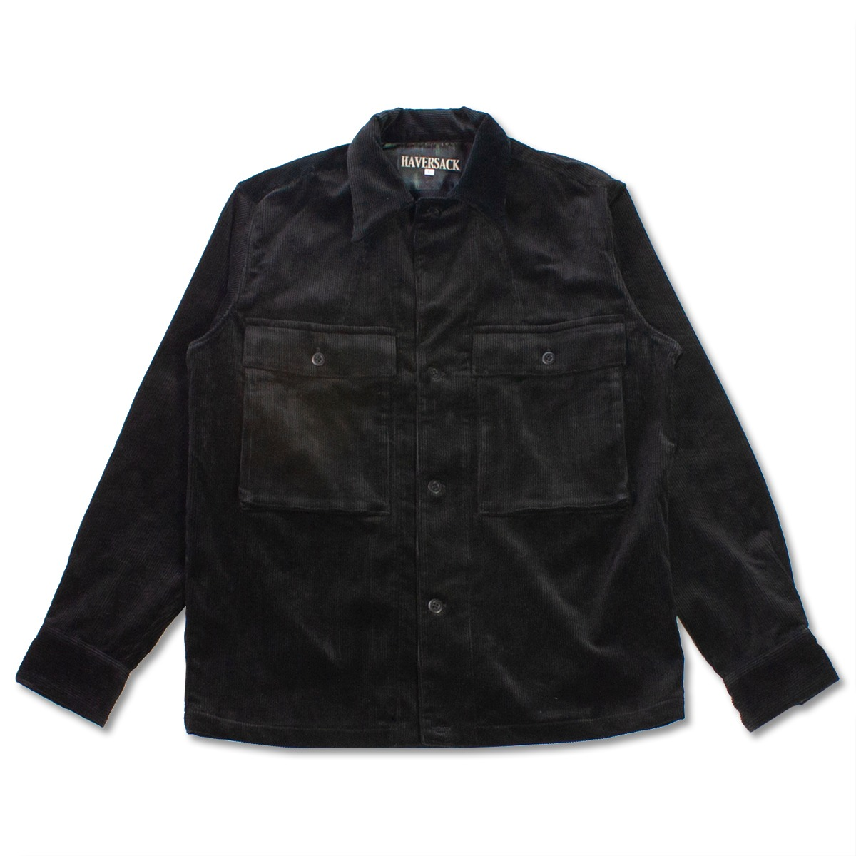 [HAVERSACK] CORDUROY SHIRT JACKET 'BLACK'