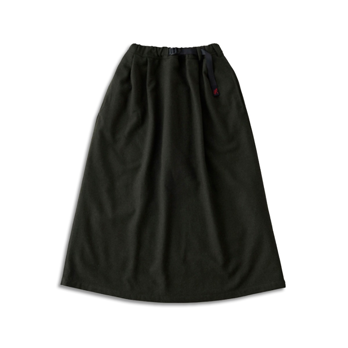 [GRAMICCI] WOOL BLEND LONG FLARE SKIRT 'DEEP OLIVE'