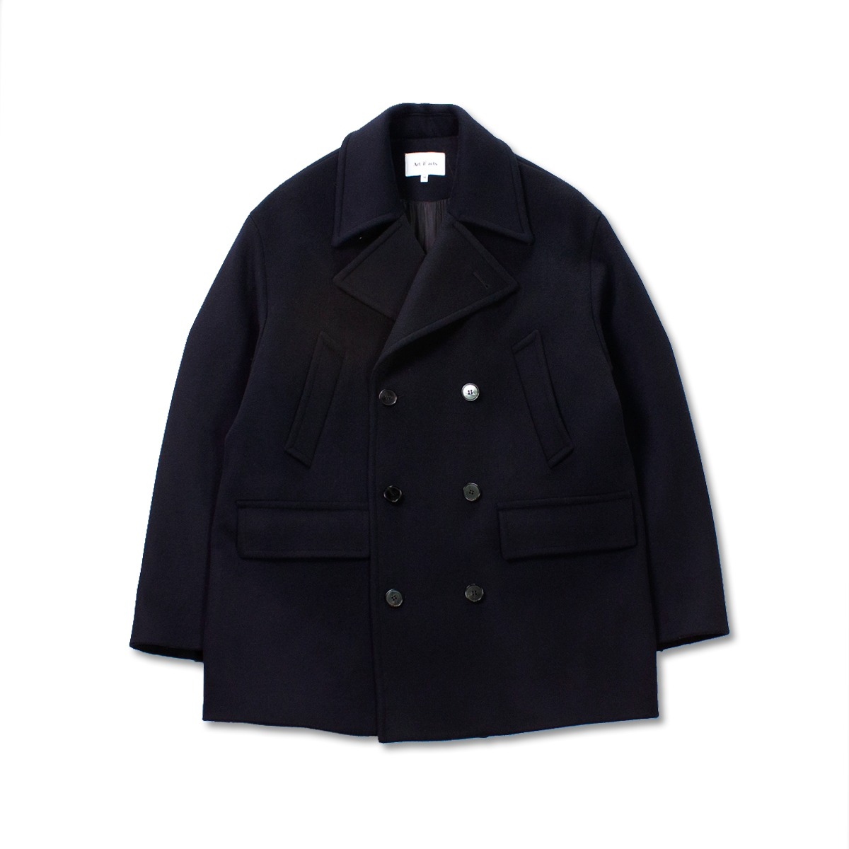 [ART IF ACTS] OVERSIZED PEA COAT 'NAVY'