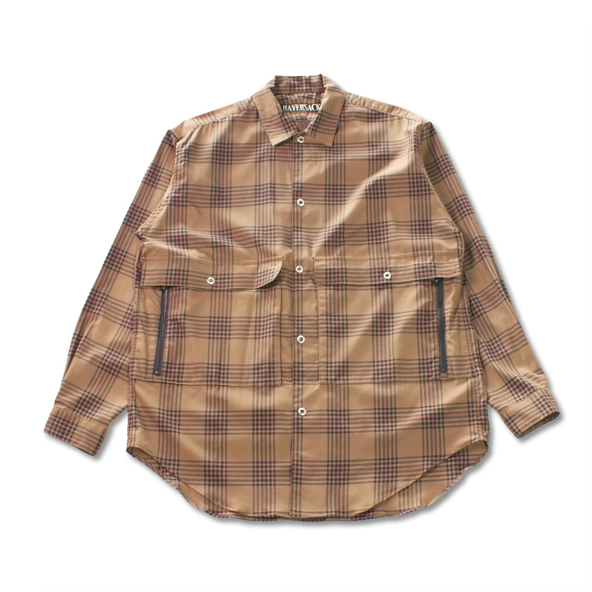 [HAVERSACK] VIERA CHECK REGULAR COLLAR SHIRT 'BROWN'
