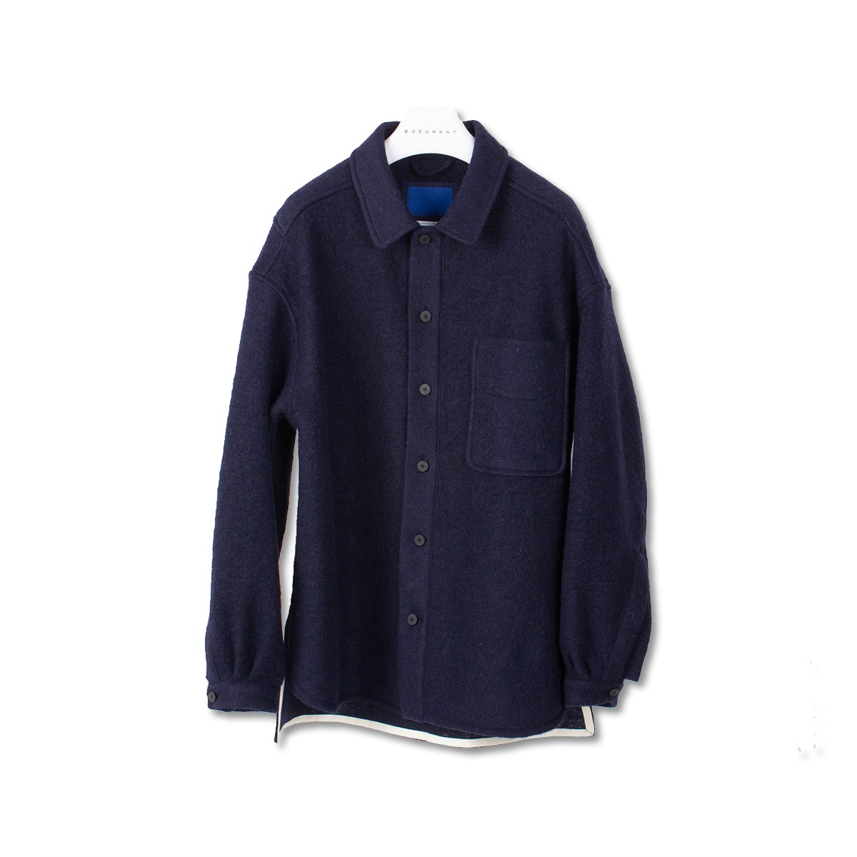 [DOCUMENT] WOOL SHIRT 'NAVY'