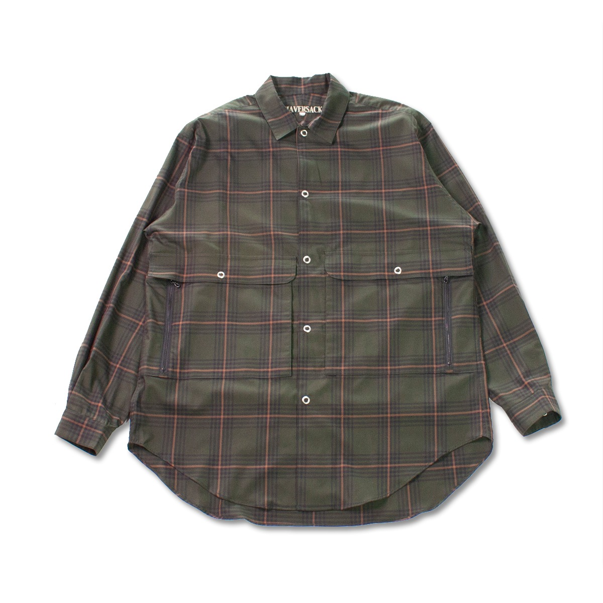 [HAVERSACK] VIERA CHECK REGULAR COLLAR SHIRT 'GREEN'